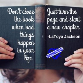 Don't close the book when bad things happen