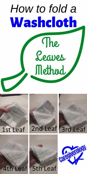 How to fold a washcloth: The leaves method