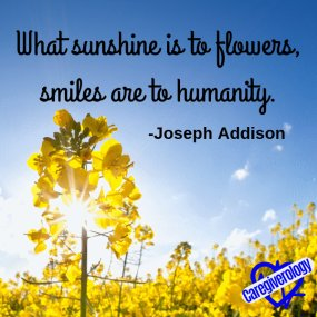 What sunshine is to flowers, smiles are to humanity