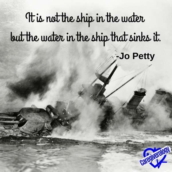 It is not the ship in the water