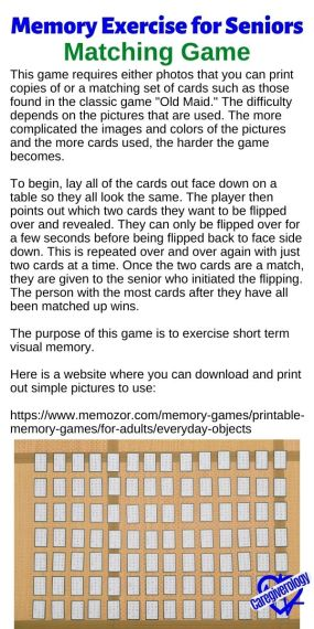 Matching Game Memory Exercise