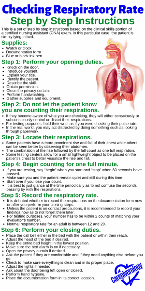 Checking Respiratory Rate Step by Step Instructions