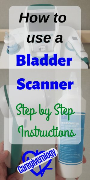 How to use a bladder scanner