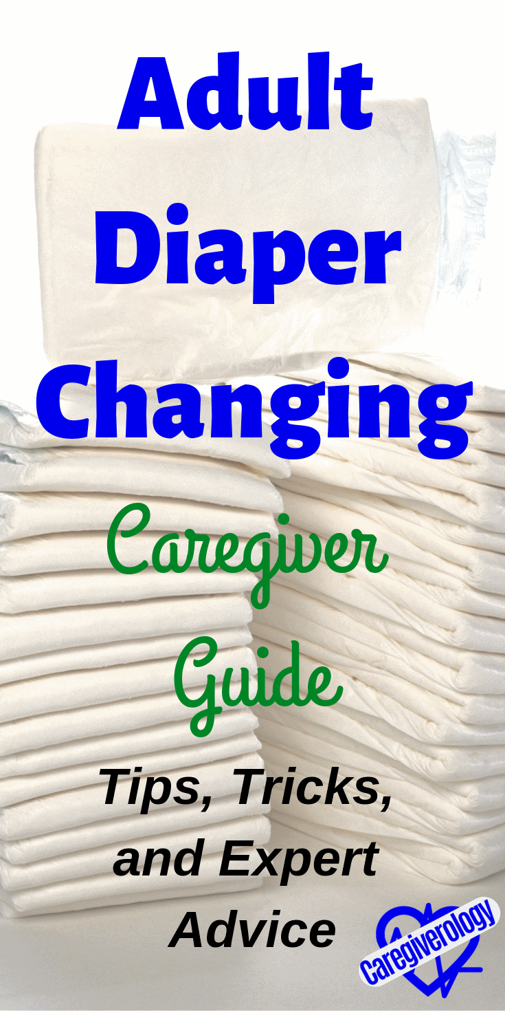 Adult diaper changing caregiver guide