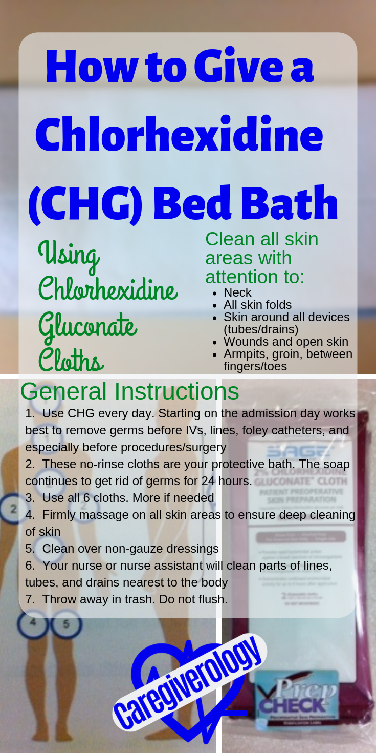 How to give a Chlorhexidine (CHG) Bed Bath