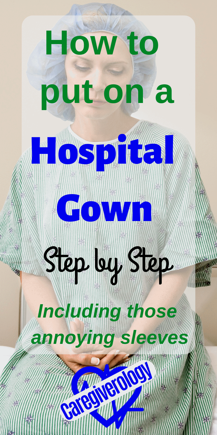 How to put on a hospital gown