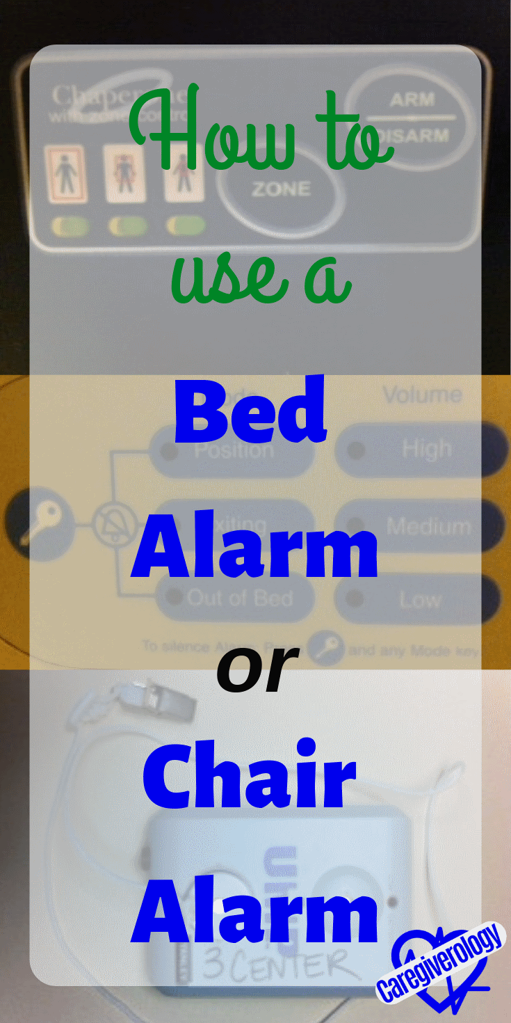 How to use a bed alarm or chair alarm