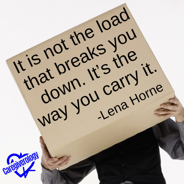 It is not the load that breaks you down