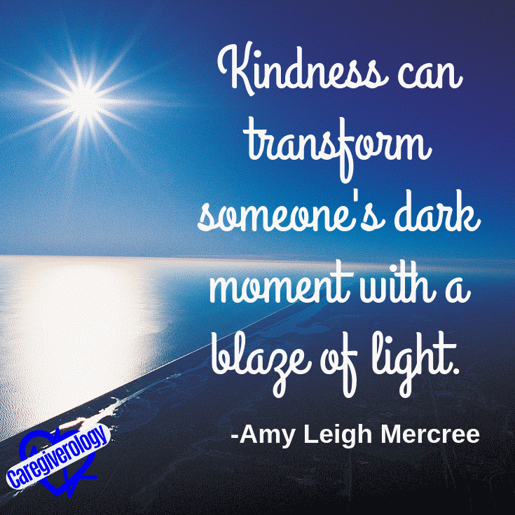 Kindness can transform someone's dark moment