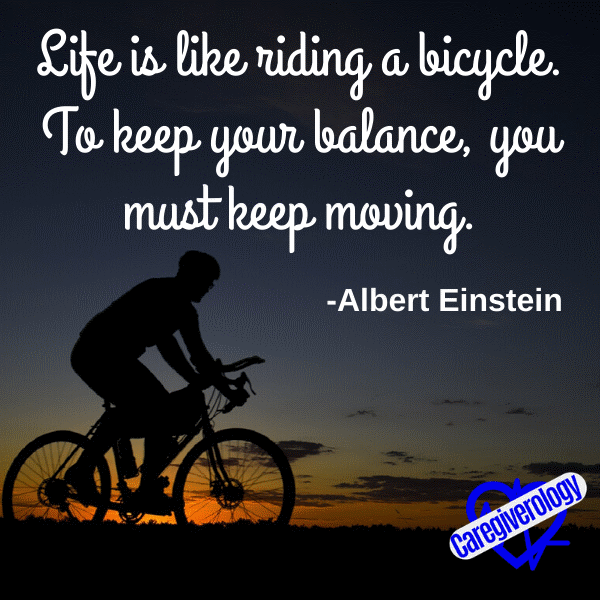Life is like riding a bicycle