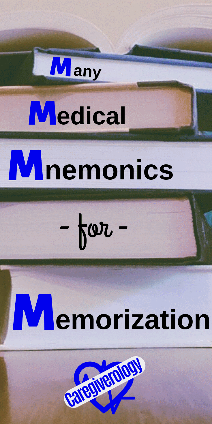 Many medical mnemonics for memorization