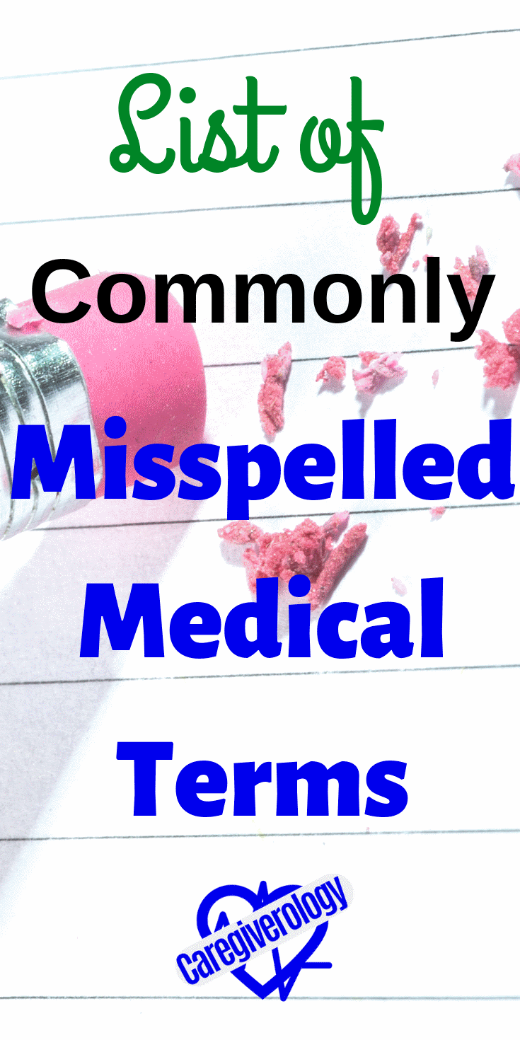 List of commonly misspelled medical terms