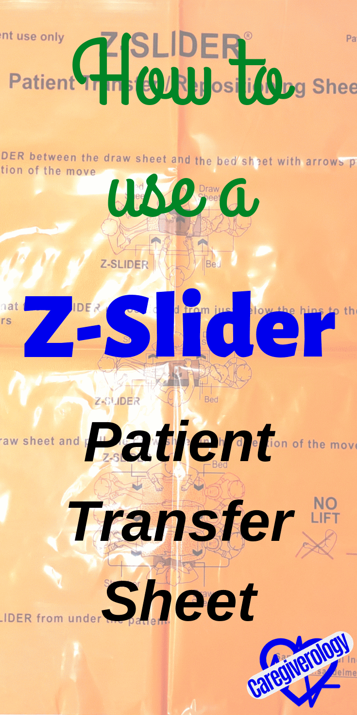 How to use a z slider patient transfer sheet