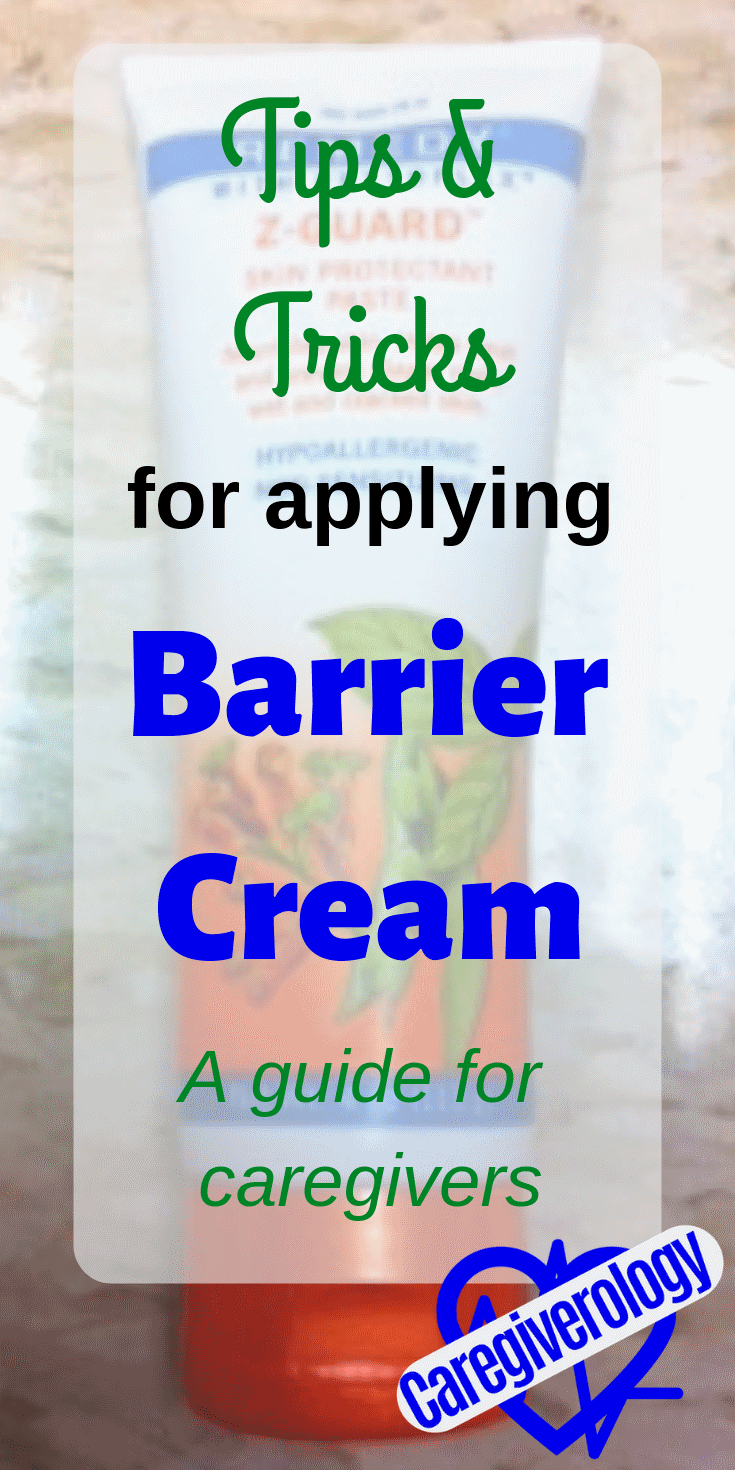 Applying barrier cream