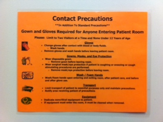 contact precautions sign