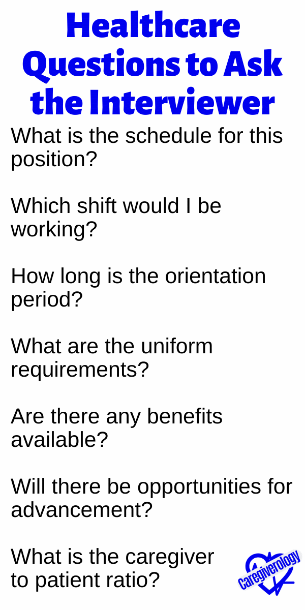 Healthcare Questions to Ask the Interviewer
