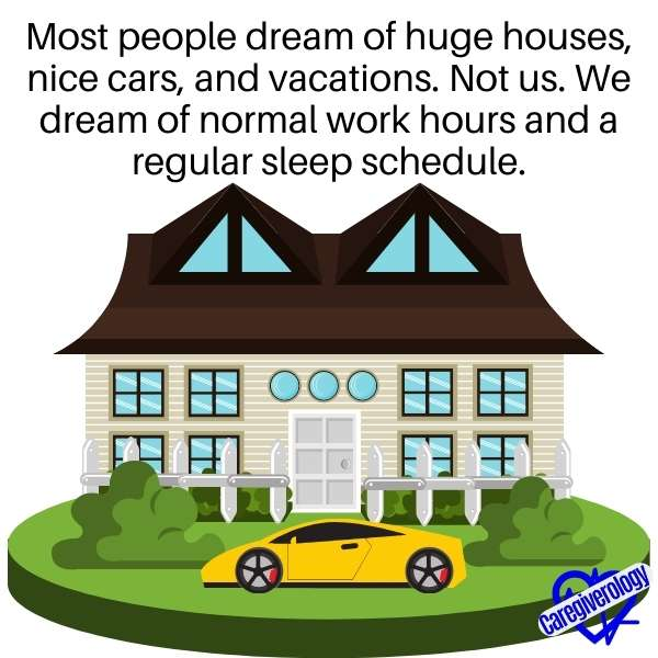 Most people dream of huge houses