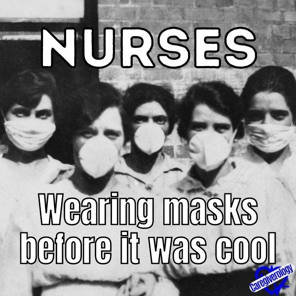 Nurses, wearing masks before it was cool