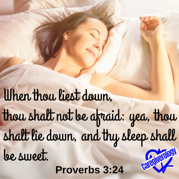 When thou liest down, thou shalt not be afraid
