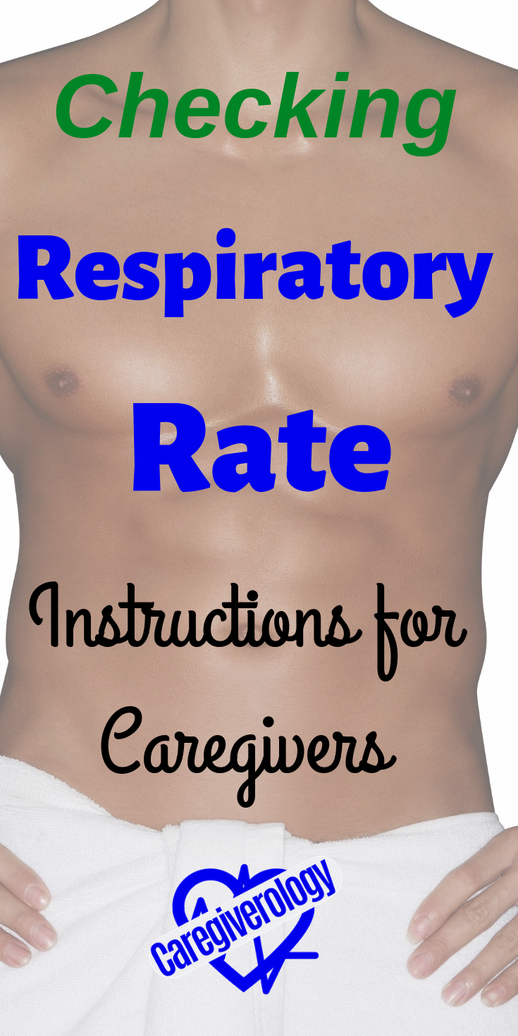 Checking respiratory rate instructions for caregivers