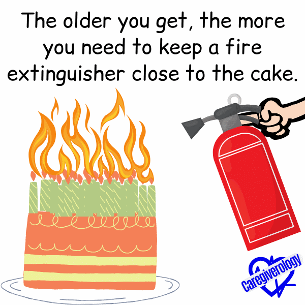 The older you get, the more you need to keep a fire extinguisher