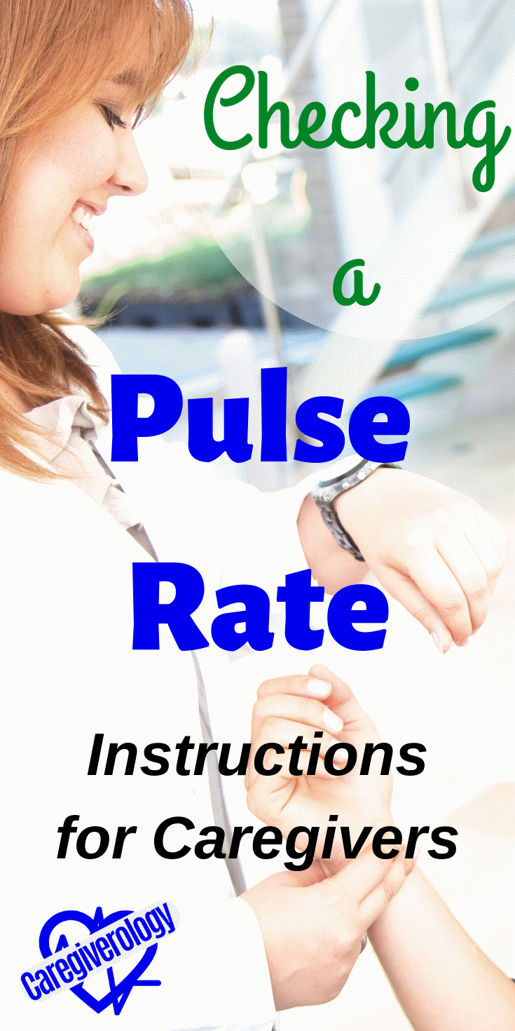 Checking a pulse rate