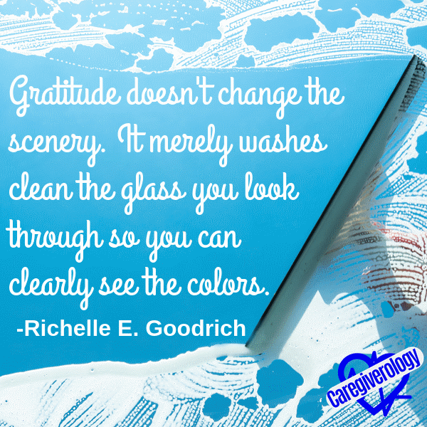 Gratitude doesn't change the scenery