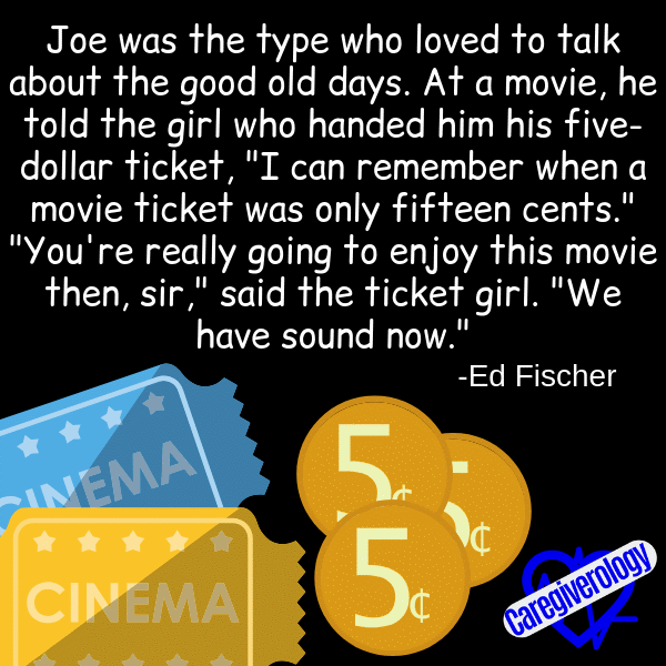Joe was the type who liked to talk about the good old days