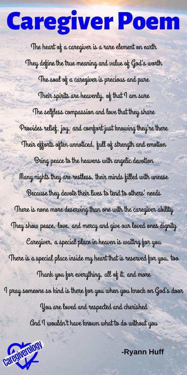 Caregiver Poem by Ryann Huff