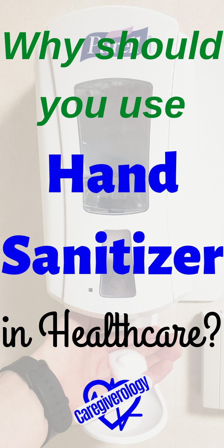 Why should you use hand sanitizer in healthcare?