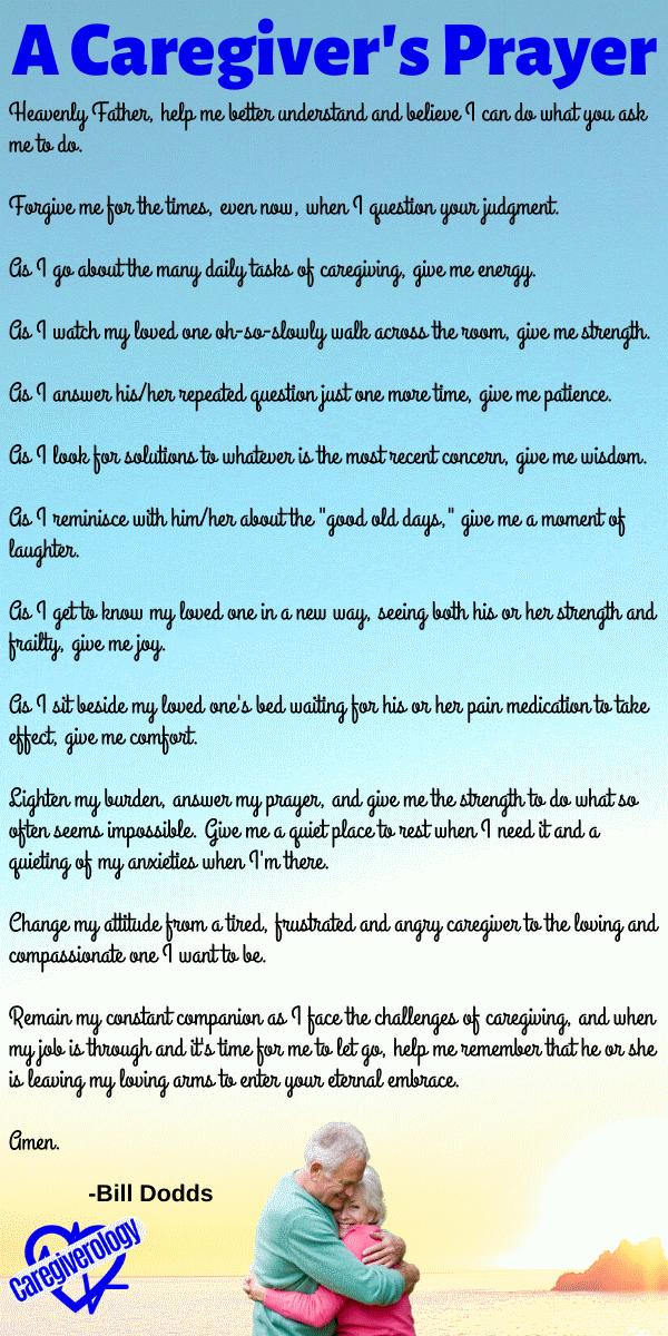 A Caregiver's Prayer by Bill Dodds