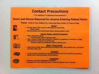 contact precautions sign