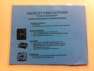 droplet precaution sign