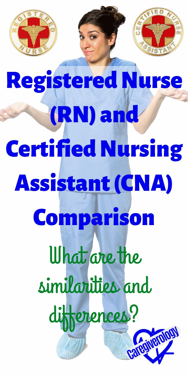 Registered Nurse (RN) and Certified nursing assistant (CNA) comparison