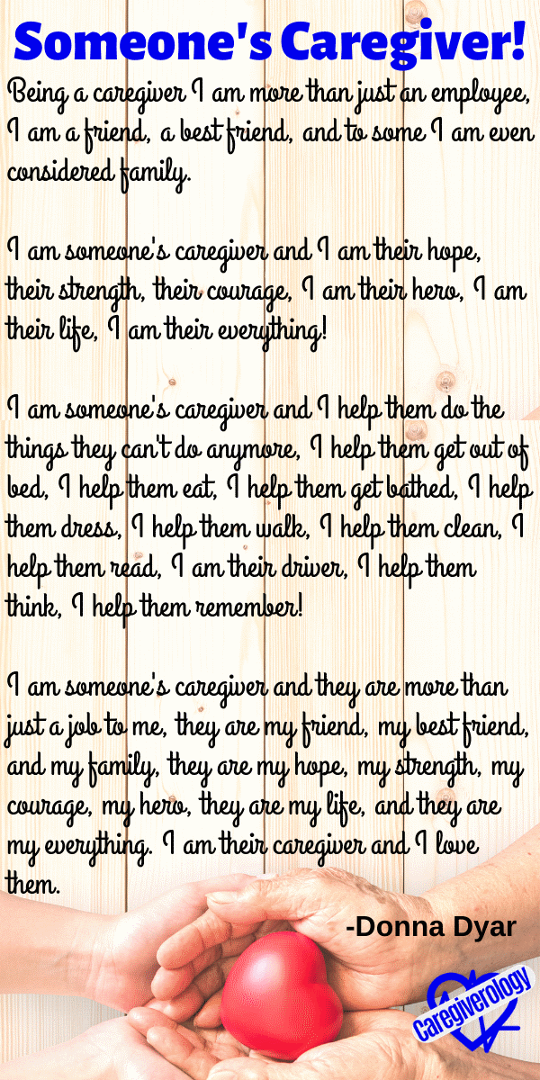 Someone's Caregiver! by Donna Dyar