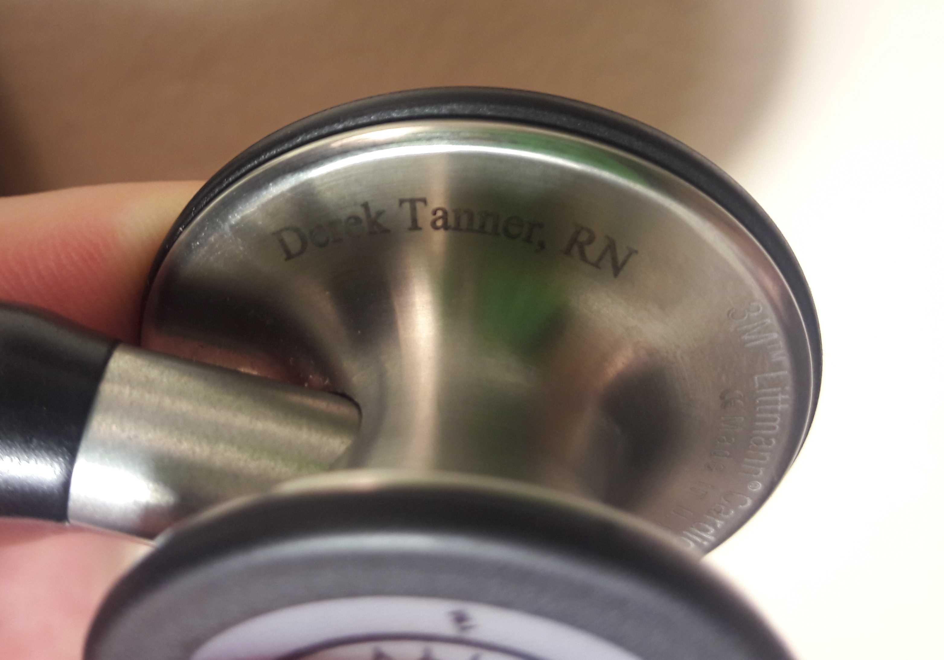 Stethoscope engraving